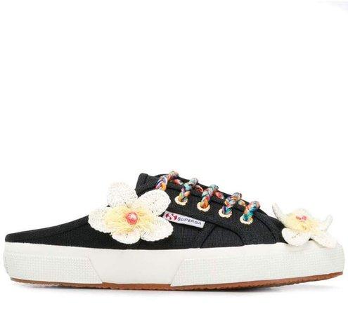X Superga flower sneakers