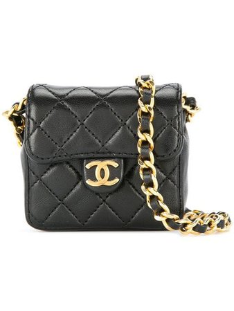 Chanel Vintage CC Logo Mini Chain Shoulder Bag - Farfetch
