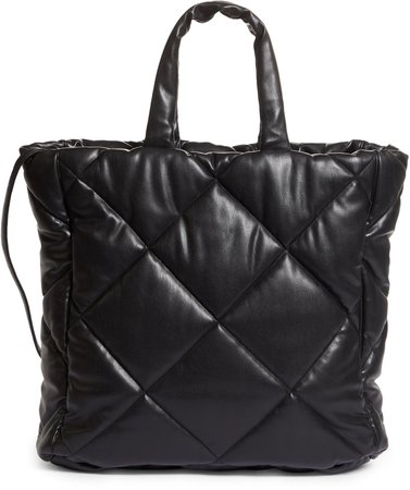 Assante Quilted Faux Leather Tote