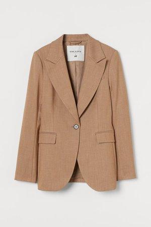 Single-breasted Blazer - Camel - Ladies | H&M US