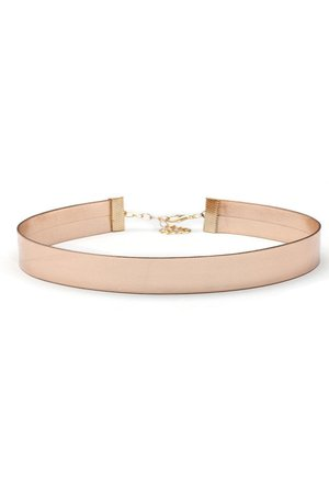 Faux Leather Rose Gold Choker