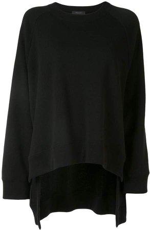 oversized raglan-sleeves sweatshirt