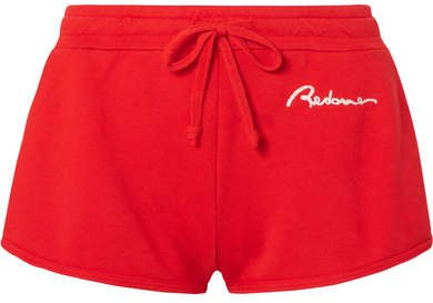 Embroidered Cotton-jersey Shorts