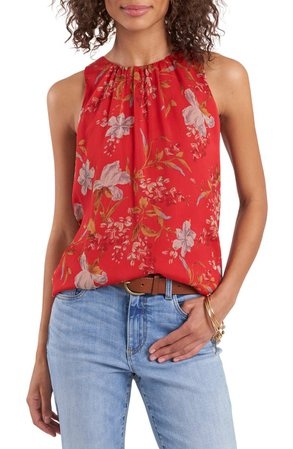Vince Camuto Sleeveless Printed Blouse | Nordstrom
