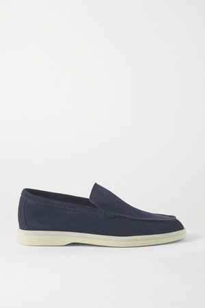 Summer Walk Suede Loafers - Navy