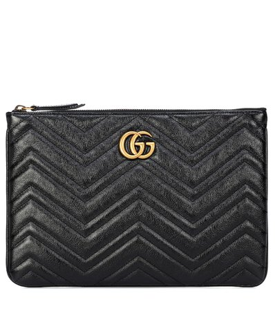 Gg Marmont Quilted Leather Clutch | Gucci - mytheresa.com