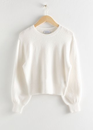 Cropped Sweater - White - Sweaters - & Other Stories