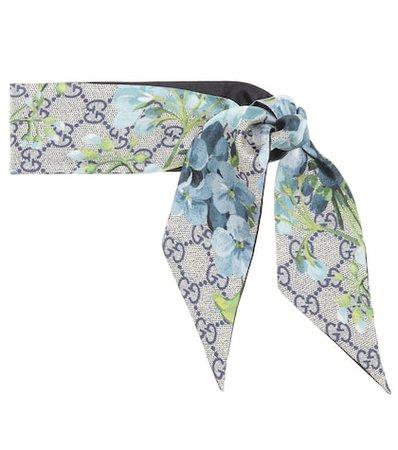 GG Blooms silk scarf