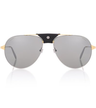 Santos de Cartier aviator sunglasses