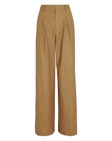STAUD Bruco Linen Wide-Leg Pants | INTERMIX®