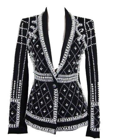 single button black jacket