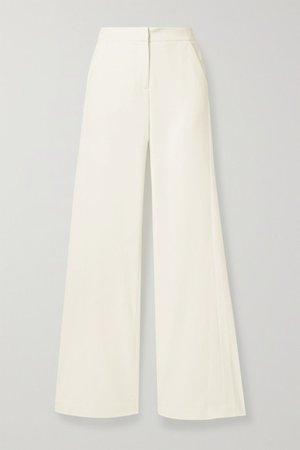 Crepe Wide-leg Pants - Ivory