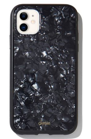Sonix Black Tort iPhone 11 Case & Slide Silicone Phone Ring | Nordstrom