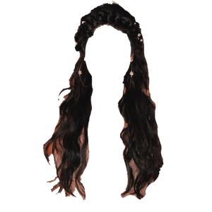 Dark Brown Hair BLACK PNG WRAP AROUND BRAID CROWN
