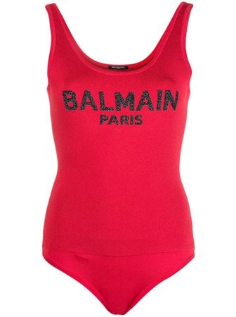 Logo Bodysuit Top BALMAIN