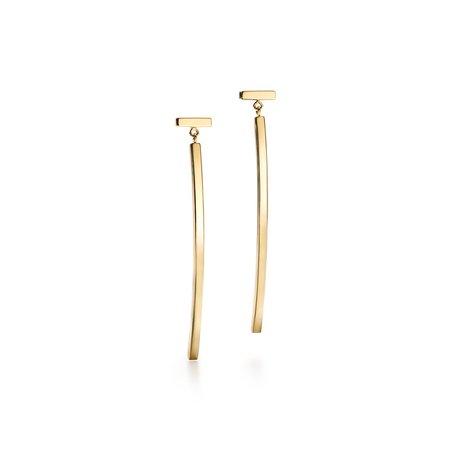 Tiffany T bar earrings in 18k gold. | Tiffany & Co.