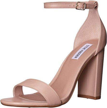 Amazon.com   Steve Madden Women's Carrson Dress Sandal, Blush Leather, 7.5 M US   Pumps