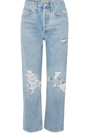 AGOLDE | '90s distressed high-rise boyfriend jeans | NET-A-PORTER.COM