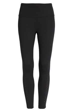 Zella Dotty Perforated 7/8 Leggings | Nordstrom