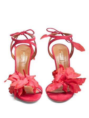 black sandals tropical flowers - Google Search