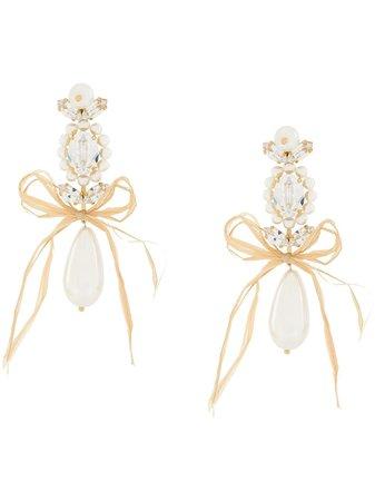 Simone Rocha Cameo And Pearl Drop Earrings ERG1840906 White | Farfetch