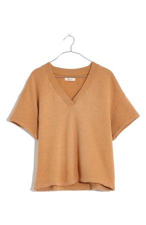 Madewell Women's MWL Airyterry V-Neck Sweatshirt T-Shirt   Nordstrom