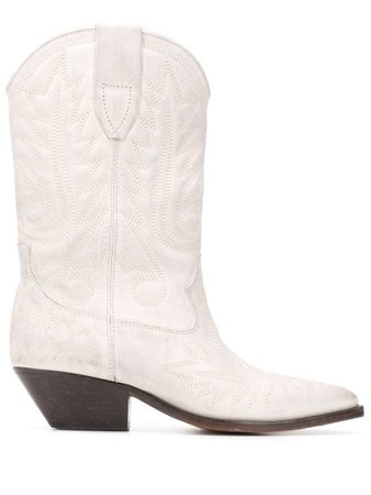 Isabel Marant Duerto Texan Ankle Boots - Farfetch