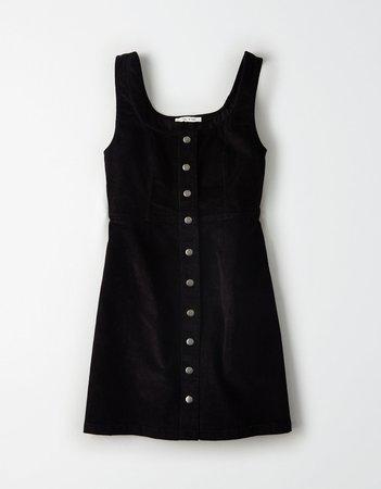 AE Corduroy Button Front Mini Dress