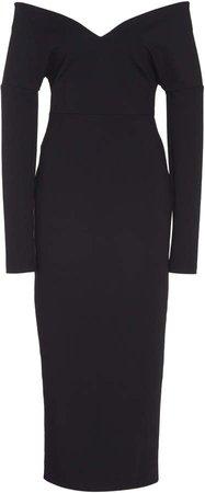 Off-Shoulder Cotton-Blend Dress