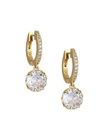 Kate Spade New York That Sparkle Pave Huggie Hoop Earrings | SaksFifthAvenue