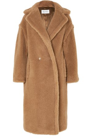 Max Mara | Teddy Icon camel hair and silk-blend coat | NET-A-PORTER.COM