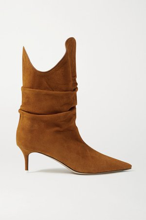 Tate Suede Ankle Boots - Tan