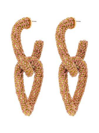 Oscar de la Renta, gold-tone crystal earrings