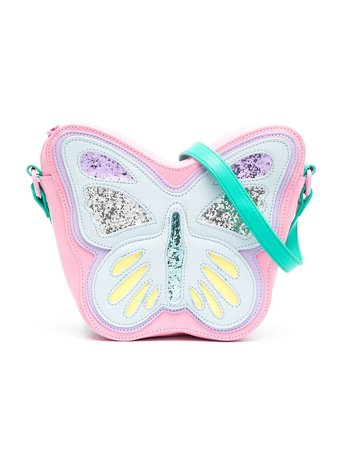 Shop blue & pink Stella McCartney Kids butterfly-effect shoulder bag with Express Delivery - Farfetch