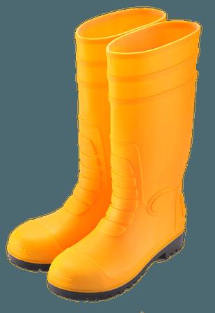 yellow rainboots