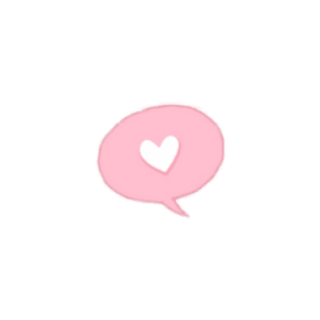pink tumblr aesthetic love hear white sticker png chat...