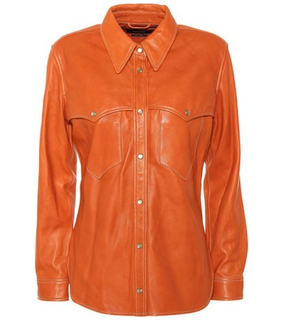 Nile leather shirt
