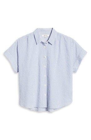 Madewell Women's Hilltop Gingham Check Seersucker Shirt | Nordstrom