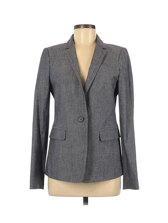 J.Crew Solid Gray Blue Blazer Size 8 - 75% off | thredUP