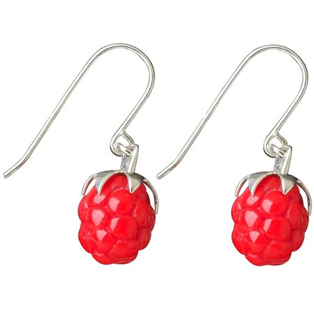 Tina Lilienthal Raspberry Earrings