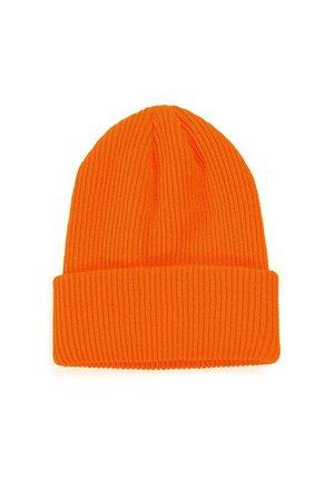 Keep Me Cozy Beanie - Orange, Accessories   Fashion Nova