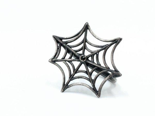 Miss Black Dust spiderweb ring