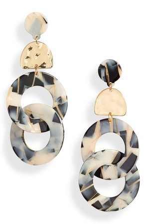 Ettika Linked Hoop Earrings | Nordstrom