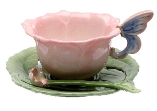pretty fairy teacup set