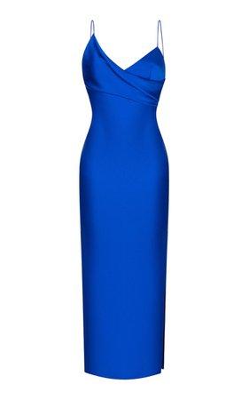 Asymmetric Satin Slip Dress By Rasario | Moda Operandi