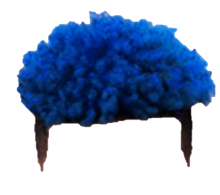 Blue and black natural hair (Heavenscent)
