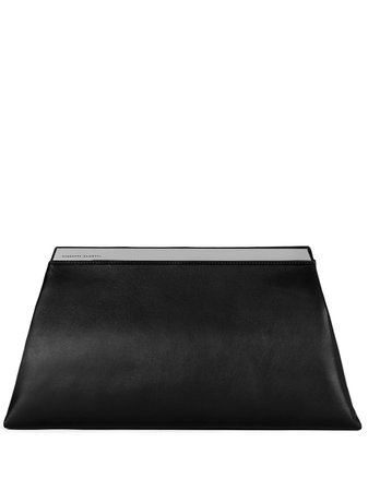 Giuseppe Zanotti Sharyl leather clutch bag black EB10000001 - Farfetch