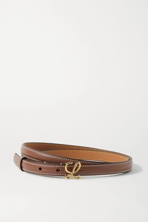 Tan Leather belt | Loewe | NET-A-PORTER