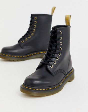 Dr Martens Vegan 1460 classic ankle boots in black | ASOS