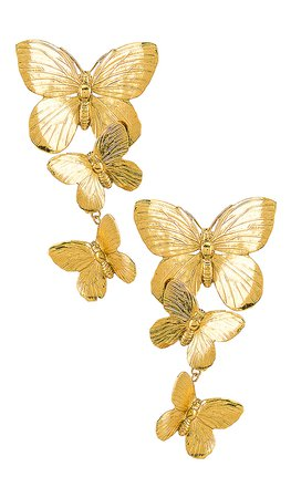 Jennifer Behr Alessandra Clip On Earrings in Gold | REVOLVE